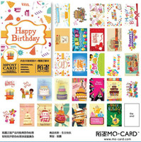 Birthday Cards Sample Retail Paper New Happy birthday to you box postcard Album Gift 30Pcs+1 pcs Small notebook set Greeting card Free Shipping