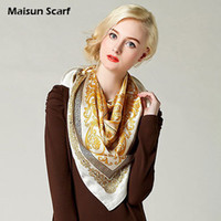 Scarves Print Adult 100 Silk Crepe Satin Plain Large Square Scarves 12mm 90 x 90cm brand square scarf