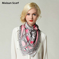 Scarves silk twill scarf - 90X90cm Square muslim hijab and silk twill scarf