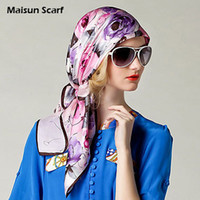 Scarves Floral Adult 100 Silk Crep square sce Satin Plain Large Square Scarves 12mm 90 x 90cm silkarf