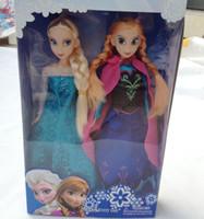 Wholesale 2014 Movie Frozen Sparkle Princess Elsa and Anna Doll cm set