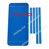 Wholesale 10pcs hot selling Button Sticker Skin Sticker protector For iPhone G Blue S