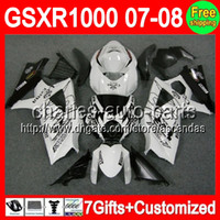 7gifts+ Custom For SUZUKI GSXR1000 Black white CORONA K7 07- 0...