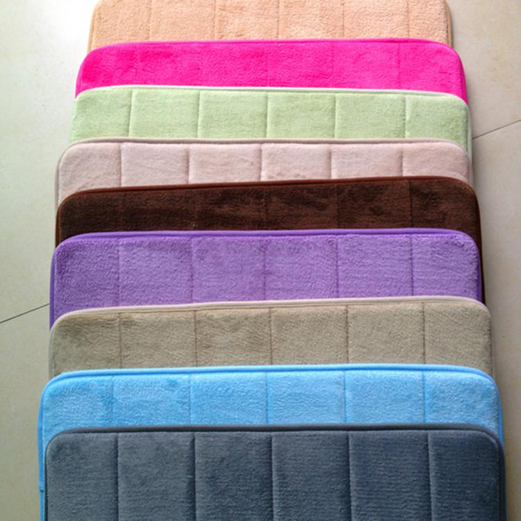 Memory Foam Doormat Anti Slip Rug Memo Floor Mat Bathroom Doormats Coral  Velvet Super Soft Mat Slow Rebound Spring Back Slowly Mat Foam Memory  Online With ...
