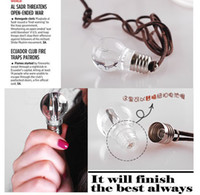 Wholesale Hot Bulb necklace bulb keychain LED Flashlight Light Bulb Key Ring Keychain Lamp Torch rainbow color