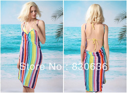 Wholesale swimwear Hawaii Leaves multicolor Cross Front Beach Cover up