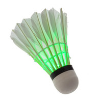 Wholesale HOT LED Luminous badminton shuttlelocks outdoor light badminton Night flash badminton Free shiping
