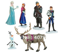 Wholesale 6pcs set CM New Movie Cartoon Frozen PVC action figures best children toys gifts