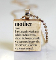 ball definition - Mother s Day Jewelry Dictionary Necklace Mother Definition Mom Scrabble Tile Pendant with Ball Chain scrabble tile jewelry
