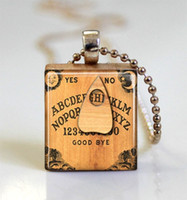 Pendant Necklaces South American custom pendant Personalized Jewelry Ouija Board Scrabble Tile Pendant with Ball Chain Necklace Included ,scrabble tile necklace jewelry