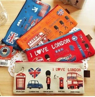 Wholesale NEW British style over London s Oxford Brad chain bag student Pencil Case Cosmetic Bag