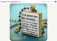 anniversary presents - Anniversary Sale Serenity Prayer pendant jewelry from a Scrabble tile Necklace Scrabble piece Home Studio jewelry gift present