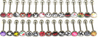 Navel & Bell Button Rings   maxi freeshippingm299 Stainless steel Body Piercing Jewelry drops Tongue pinTongue ring small Ornaments