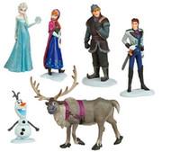 Wholesale Classics Frozen Anna Elsa Hans Kristoff Sven Olaf PVC Action Figures Toys Classic Toys Frozen Creative Novelties Set