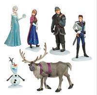 Wholesale Frozen Action amp Toy Figures Princess Elsa amp Anna PVC Doll Toys New Brinquedos Toys for Children Classic Figures Toys Set