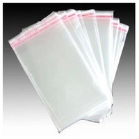 Wholesale Promotion cm cm cm cm1000pcs flap seal self adhesive seal poly bag opp packaging clear Plastic bag