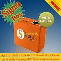 Wholesale Original Latest Sigma Box cables mobile phone unlock and repair tool for Nokia amp ZTE amp Motorola For Philips amp Huawei