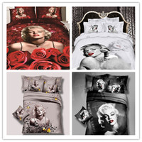 Wholesale Promotion new Sexy Goddess Marilyn Monroe Luxury oil painting D Bedding sets duvet Cover Bedspread set Bed in a bag No comforter