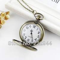 Unisex Digital Round Fashion Japan movement quartz pocket watch
