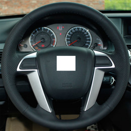 Wholesale Xuji Steering Wheel Cover for Honda Accord XuJi Car Special Hand stitched Black Genuine Leather Wheel Covers