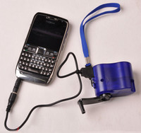 Wholesale HOT Dynamo Hand Crank USB Cell Phone Emergency Charger New free shiping