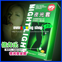 Wholesale glow not glow glow condom glow in the dark condom luminous condom lamp sexy adult supplies