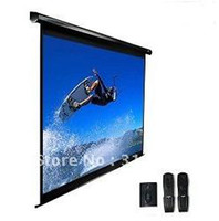 Wholesale Tubular motor inch grey matte Electric Projection Screen With Remote Conrtoller