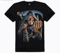 Wholesale NEW Hot Sale Fashion Men s D T shirt Reaper s Scythe pattern Mens T shirt cotton round colla Men s fashion t shirt DX15