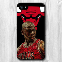 Wholesale Big Chicago Bulls Michael Jordan Protective Cover Case For iPhone s Mixed Order Acceptable