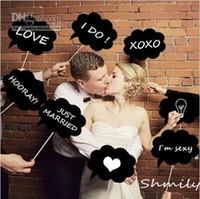 Backdrops bubbles - Set of Pieces Funny Photo Props Cloud Speech Bubbles on a Stick Wedding Bridal Favor Party Decoration