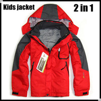 Wholesale 2014 spring brand in Children Outdoor suit snowboard Windproof Sportwear Outerwear Coats kid s Skiing Jackets for boys girls