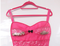 Wholesale 2pcs New Lady Litter Dress Hanging Jewelry Hair Accessories Organizer Black or Pink