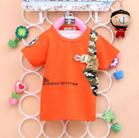 "Unisex Summer Round Neck 2014 New Arrival Children cotton t-shirt Camouflage dimensional ""pistol""boy T-shirt child short sleeved round neck t-shirt shirt"