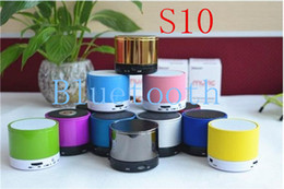 100 lot S10 Portable Wireless bluetooth Fashion New Mini Player Bluetooth Wireless Stereo Speakers support TF card and audio calling