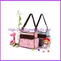Soild designer baby bag - Fashion oxford cotton cartoon Animal Prints shoulder bag Diaper Bags Designer Maternity Nappy Bags Mummy Baby Bag for baby care free ship