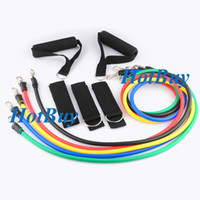 Wholesale 11 in Fitness Resistance Latex Band Fitness Gym Yoga Exercise Pull Rope Yoga Workout