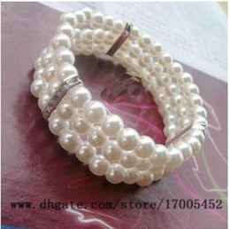 Wholesale fashion female models cute three diamond drill multilayer Beaded bracelet stretch bracelet elegant flash v248