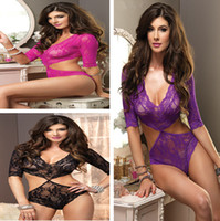 Regular Women Pajamas Sets New Arribal One piece Sexy Lingerie High Fashion Sexy Underwear Women Teddy 3 Colors