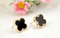 Wholesale Cheap Fashion Big Black White Earrings For Women New Designer Dropship Best Female Jewelry Factory Online Sale