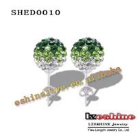 Wholesale Gradient Color Shamballa Earring Studs Disco Balls Crystals Shamballa Earrings Studs Earring Mix Colors Options SHEDmix2