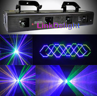Wholesale New mW four head GBPY beam laser stage DJ lights colors Double tunnel DMX channels Green Blue Purple Yellow for party Colorful