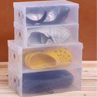 Plastic household items - 40pcs Transparent Plastic Storage PP Shoe Box Foldable Shoe Box Shoe Storage Box Debris Storage Box Household Items