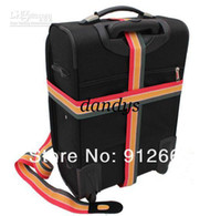baggage carriers - 10pcs rainbow elastic luggage carrier belt travel baggage straps lanyard suitcase strength cord