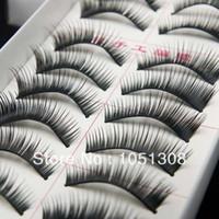 Wholesale Hand made False eyelashes pairs pairs box models natural and thick for choose Free