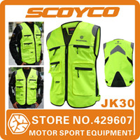 Wholesale 2014 Scoyco JK30 Motorcycle Reflecting Racing Vest Visbility Moto Safety Road Security High Quality Vest Motorbike