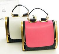 low price handbags - Lowest Price Casual Women s Handbag bag Purses PU Leather fashion Splice Shoulder Bags Handbag bag Messenger Bag white