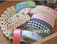 Wholesale 5pcs DIY scrapbooking products album tape printed cotton fabric tape Korean decorative tapes Diy tape flowers