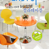 Wholesale 2014 New Promotion Colorful dining chair metal and plastic chairs folding fashion chair Europe and the Korea fashion