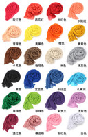 Wholesale Lady Mixed Candy Colour Pick fashion Long Scarf Wrap Shawl Stole Free Ship