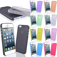 For Iphone 5 5S For Iphone 4S PP Rose(dark pink) 0.3mm Slim Frosted Transparent Clear Soft PP Cover Case Skin for iPhone 5 5S iPhone 4 4S iPhone 5C Galaxy S5 i9600 S3 S4 Mini Note 3 100pcs